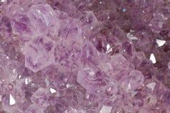 Beschaffenheit amathyst Kristalle Stockfoto
