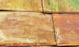 Beschaffenheit - Blätter des Rost-farbigen Metalls Lizenzfreies Stockfoto