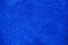 Beschaffenheit blauen microfiber Stoffes Stockbilder