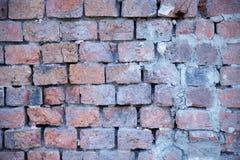 Beschaffenheit der alten Backsteinmauer Stockbild