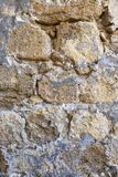 Beschaffenheit der alten Schlosswand des Steins und des Granits Lizenzfreie Stockbilder