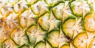 Beschaffenheit der Ananashaut Stockfotos