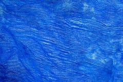 Beschaffenheit der blauen Seihtuchbaumwolle stockbild