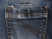 Beschaffenheit der Blue Jeans-Tasche Lizenzfreie Stockfotos