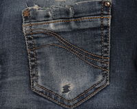 Beschaffenheit der Blue Jeans-Tasche Lizenzfreies Stockbild