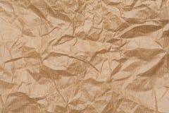 Beschaffenheit der Braun zerknitterten Papiertüte Lizenzfreies Stockfoto