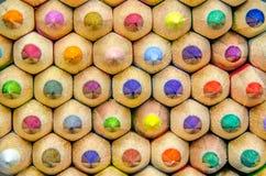 Beschaffenheit der farbigen Bleistifte lizenzfreie stockbilder