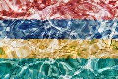 Beschaffenheit der Flagge Mauritius stockfotos