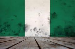 Beschaffenheit der Flagge Nigeria stockfotos