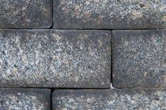 Beschaffenheit der großen Blocksteinwand Lizenzfreie Stockfotos