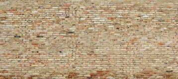 Beschaffenheit der grunge Wand von getragenen heraus Ziegelsteinen Lizenzfreie Stockfotos