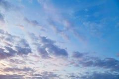 Beschaffenheit der Himmel Lizenzfreie Stockfotos