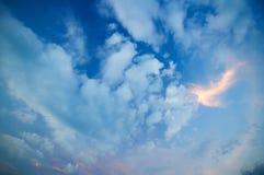 Beschaffenheit der Himmel Lizenzfreie Stockbilder