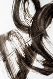 Beschaffenheit der japanischen Kalligraphie und des wei?en Farbsprays lizenzfreies stockfoto