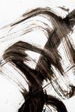 Beschaffenheit der japanischen Kalligraphie und des wei?en Farbsprays lizenzfreies stockbild