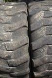 Beschaffenheit der kahlen LKW-Reifen-Nahaufnahme Stockbilder