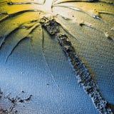 Beschaffenheit der Palme gemalt auf einem Leinen Lizenzfreies Stockbild