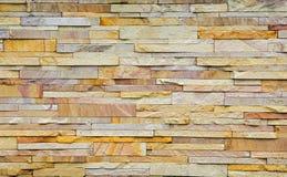 Beschaffenheit der rauen Backsteinmauer des gelben Brauns Lizenzfreie Stockfotos
