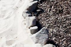 Beschaffenheit der Steine, Sand und trocknen die Barke Lizenzfreies Stockbild