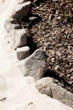 Beschaffenheit der Steine, Sand und trocknen die Barke Stockfoto