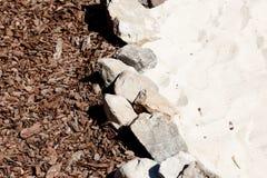 Beschaffenheit der Steine, Sand und trocknen die Barke Lizenzfreie Stockfotos