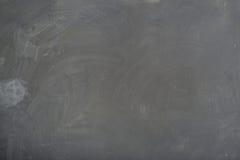 Beschaffenheit der Tafel (Tafel). Leere leere schwarze Tafel mit Kreidespuren lizenzfreies stockbild