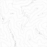 Beschaffenheit der topographischen Karte Stockfotos