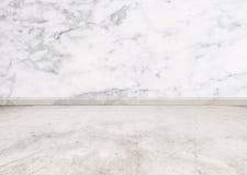 Beschaffenheit der weißen Marmorsteinwand und der Steinwand Alte Backsteinmauer als Hintergrund für Anzeige oder Montage benutzt  Stockfoto