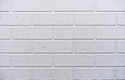 Beschaffenheit der weißen Backsteinmauer für Hintergrund stockfoto