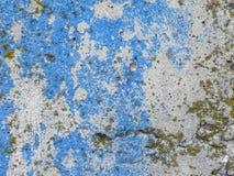 Beschaffenheit der Zementwand Beschaffenheit mit blauem und weißem paintTexture der Zementwand mit blauer und weißer Farbe Lizenzfreies Stockfoto