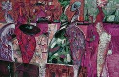 Beschaffenheit des Ölgemäldes Roman Nogin Autor Reihe ` Frauen ` s Gespräch ` die Autor ` s Version der Farbe Stockbilder