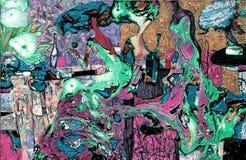 Beschaffenheit des Ölgemäldes Roman Nogin Autor Reihe ` Frauen ` s Gespräch ` die Autor ` s Version der Farbe Lizenzfreies Stockfoto
