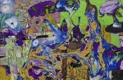 Beschaffenheit des Ölgemäldes Roman Nogin Autor Reihe ` Frauen ` s Gespräch ` die Autor ` s Version der Farbe Stockfoto