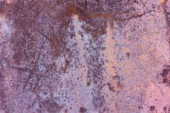 Beschaffenheit des alten rostigen Metalls, alte Eisenwand Lizenzfreies Stockfoto