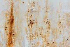 Beschaffenheit des alten rostigen Metalls, alte Eisenwand Stockfotografie