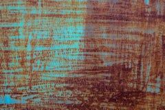 Beschaffenheit des alten rostigen Metalls gemalt entziehen Sie Hintergrund Altes Metall stockfotos
