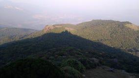 Beschaffenheit des Berges Stockbild