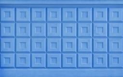 Beschaffenheit des Blau gemalten konkreten Zauns Lizenzfreie Stockfotos