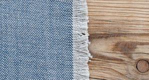 Beschaffenheit des blauen Baumwollstoffs Stockbilder