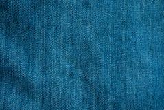 Beschaffenheit des blauen Baumwollstoffs Lizenzfreies Stockfoto