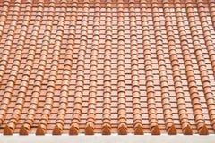 Beschaffenheit des Dachs, Beschaffenheit der braunen Dachspitze im Tempel Lizenzfreie Stockfotografie