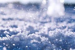 Beschaffenheit des Eises im Winter Stücke gefrorenes Wasser auf einer Straße herein Lizenzfreie Stockbilder
