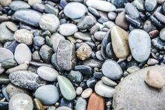 Beschaffenheit des Felsens, Stein auf ein Strand Lizenzfreies Stockbild