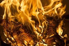 Beschaffenheit des Feuers Stockbild