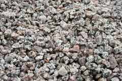 Beschaffenheit des flachen zerquetschten Granits Lizenzfreies Stockbild
