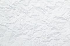 Beschaffenheit des geknitterten Papiers Stockfotos