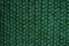 Beschaffenheit des gestrickten grünen Segeltuches Lizenzfreie Stockfotografie