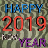Beschaffenheit des guten Rutsch ins Neue Jahr 2019 lizenzfreies stockbild