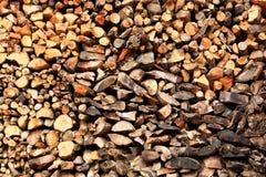 Beschaffenheit des Holzes auf dem Woodpile, Hintergrund Lizenzfreie Stockfotografie