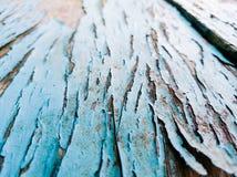 Beschaffenheit des Holzes mit altem Farbblauhintergrund Lizenzfreie Stockfotos
